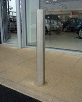 Stainless steel bollards by Autopa Limited