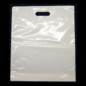 Patch Handle Carrier Bags 15 x 18 x 3 by R R Packaging Ltd