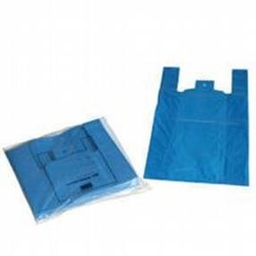 Vest Carrier Bags (Blue) by R R Packaging Ltd