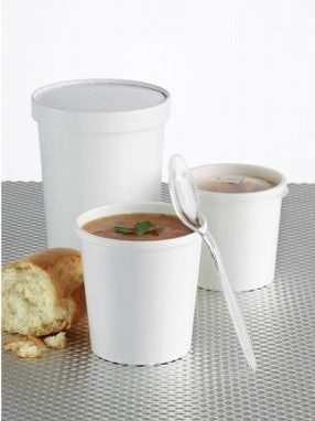 8oz (237ml) Heavy Duty Containers & Lids x 250 by R R Packaging Ltd