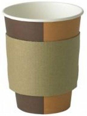 8 / 10oz Coffee Clutch Cup Sleeve x2000 by R R Packaging Ltd