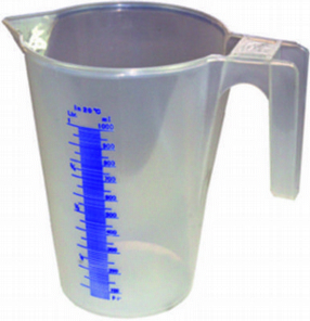 0.25Ltr Calibrated Clear Measuring Jugs by Lumeter Ltd