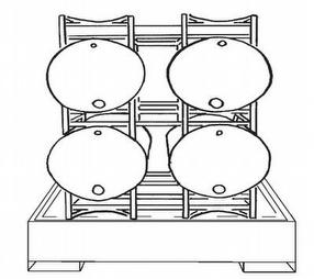 Double Steel Barrel Racking by Lumeter Ltd
