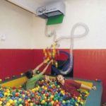 Ball Pool Showers by Mike Ayres Design Ltd