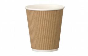 12oz Kraft Ripple Coffee Cups x500 by R R Packaging Ltd