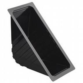 Heat Seal Black Open Wedge Triple x 1000 by R R Packaging Ltd