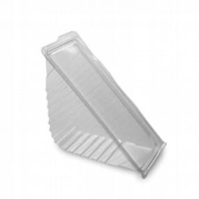 Clip Close Clear Hinged Wedge Deepfill x 500 by R R Packaging Ltd
