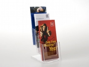 Acrylic leaflet dispensers by The Big Orchard
