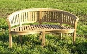 Teak Deluxe Banana Bench by Chairs and Tables Ltd.