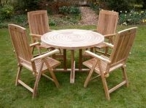 Teak Garden Furniture Sets Table & Chairs by Chairs and Tables Ltd.