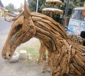 Teak Animal Sculptures by Chairs and Tables Ltd.