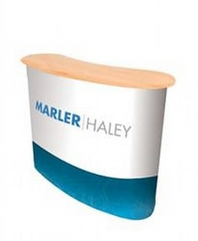 Display Counters & Plinths by Marler Haley Ltd