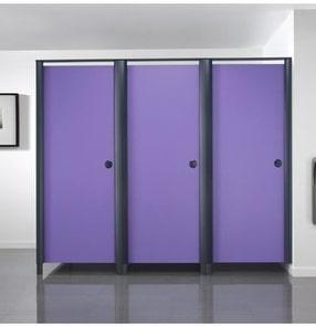 Aero Element Toilet Cubicle by Bushboard Washroom Systems Ltd