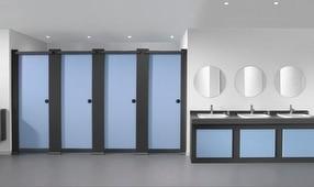 Tough Stuff Toilet Cubicle Range by Bushboard Washroom Systems Ltd