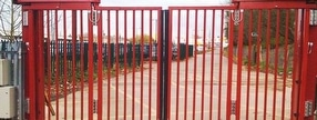 Trackless Bi Folding Gate Systems by Expert Security Systems UK