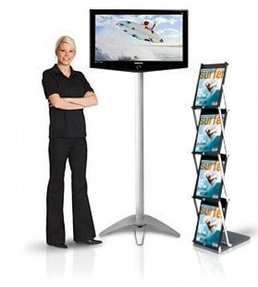 Freestanding Media Display Stands by Expand International (GB) Ltd.