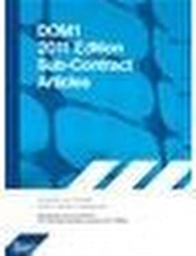 DOM1 2011 Edition Sub-Contract Articles by Construction Industry Publications