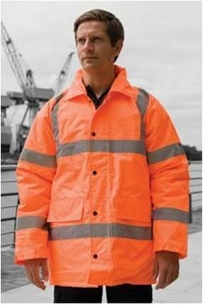 Harbour Lights Hi Viz Motorway Coat by Maverick Promotions (Logos 4 Clothes)