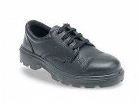 Toesavers 9000LG Black Leather Safety Shoes by Maverick Promotions (Logos 4 Clothes)