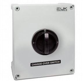 3 Pole Manual Changeover Switch Plastic by E-UK Controls