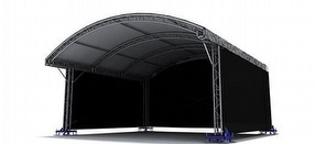 MR1 Arched Canopy Roof by Milos Structural Systems Ltd