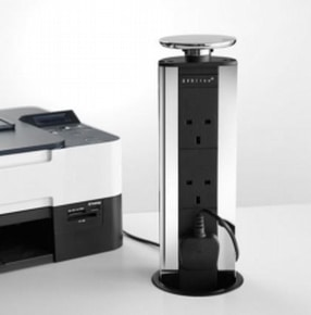 EVOline Port with 3xUK Sockets by LDL Components Ltd