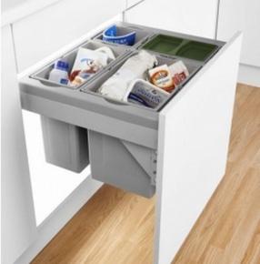 Pullboy Premium Drawer Waste Bin 40kg by LDL Components Ltd