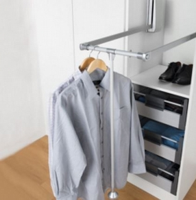 Linea Storage Hydraulic Wardrobe Lift System by LDL Components Ltd
