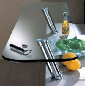 Chrome 20° Angled Breakfast Bar Support System by LDL Components Ltd