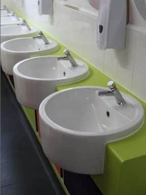 Extensive Range of Sanitaryware by Edge Design Washrooms Limited