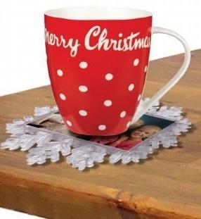 Snowflake Photo Coaster by Plastics-direct.co.uk