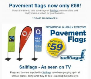 Sailflags flying banners and flags on the news from Sailflags
