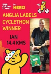 CHILDREN IN NEED CYCLETHON 2015 from Anglia Labels (Sales) Ltd.