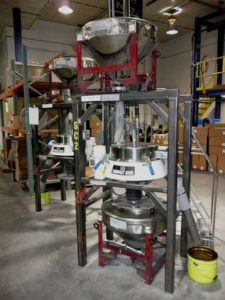 Metal powder separator machine from Russell Finex Ltd.