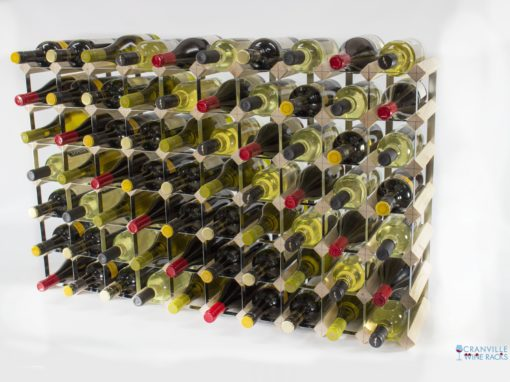 Classic 70 bottle pine wood and galvanised metal wine rack ready assembled by Cranville Wine Racks Ltd