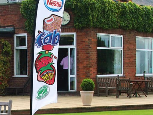 Flying Banner Flags by Cafe Menu Systems