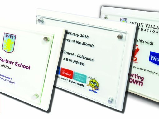 Colour Printed Wall Plaques by Five Star Trophies