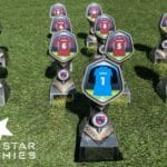 Football Trophies by Five Star Trophies