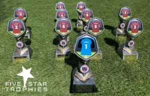 Football Trophies from Five Star Trophies